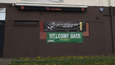 Welcome Back sign on the front of The Lawburn